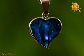 Serce wisiorek Abalon Muszla  - piękno życia, harmonia, ochrona