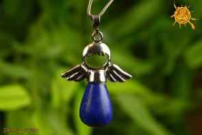 Lapis Lazuli WISIOREK ANIOŁEK metal - sukces w pracy, pogoda ducha, ochrona, wzmocnienie więzi