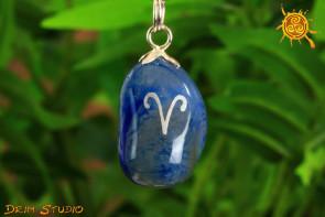 Agat wisiorek znak zodiaku BARAN - talizman, amulet dla BARANA 21.03 - 19.04