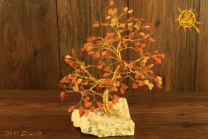 Drzewko szczęścia Bursztyn 200 kamieni naturalnych - mądrość, romantyczna miłość, poprawa nastroju