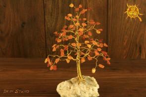 Drzewko szczęścia Bursztyn 100 kamieni naturalnych - mądrość, romantyczna miłość, poprawa nastroju