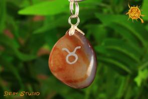 Agat wisiorek znak zodiaku BYK - talizman, amulet dla BYKA 20.04 - 22.05