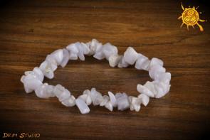 Chalcedon bransoletka wąska - kojenie niepokoju i fobii, stabilność, inspiracja