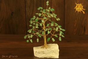 Drzewko szczęścia Awenturyn 100 kamieni naturalnych - kreatywność, zdrowie, zdolności zarządzania
