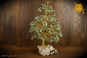 Drzewko szczęścia Awenturyn WIELKIE naturalne kamienie - kreatywność, zdrowie, zdolności zarządzania
