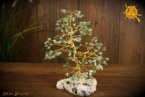 Drzewko szczęścia Awenturyn 200 kamieni naturalnych - kreatywność, zdrowie, zdolności zarządzania