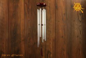 Dzwonki wietrzne srebrne bez symboli - poprawa FENG SHUI pomieszczenia