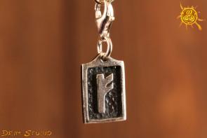 Runa FEHU przywieszka charms srebro - powodzenie, bogactwo, złoto