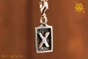 Runa GEBO przywieszka charms srebro - miłość, harmonia, tolerancja