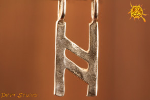 Runa HAGAL srebro - intuicja, ochrona, równowaga