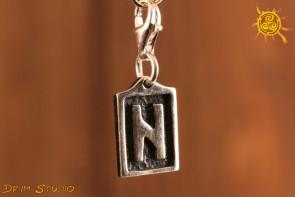 Runa HAGAL przywieszka charms srebro - intuicja, duchowość, ochrona
