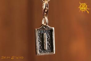 Runa ISA przywieszka charms srebro - spokój, stabilizacja, opanowanie