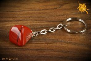 Jaspis Czerwony BRELOK - chrona, wytrwałość, cierpliwość, spokój ducha
