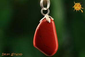 Jaspis czerwony WISIOR - ochrona, wytrwałość, cierpliwość, spokój ducha