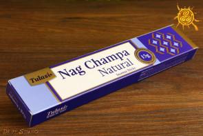 Kadzidełko Nag Champa pyłkowe Tulasi -  oczyszcza przestrzeń, przywołuje pozytywne wibracje