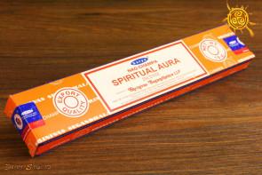 Kadzidełko Nag Champa Spiritual Aura pyłkowe Satya -  oczyszcza przestrzeń, przywołuje pozytywne wibracje