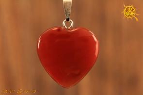 Karneol wisior serduszko - łączy ciało z duszą, chroni, dodaje pewności siebie