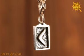Runa KENAZ przywieszka charms srebro - inspiracja, sukces, powodzenie