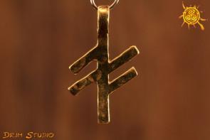 Klucz Twórczego Życia pozłacany runa Ansuz i Fehu - nowe możliwości