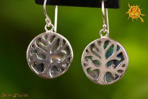 Drzewo Życia kolczyki Abalone srebro - odblokowanie, równoważenie czakr