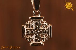 Krzyż Jerozolimski wisior srebro - chroni przed negatywnymi zdarzeniami