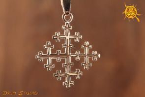 Krzyż Lalibela WISIOR srebro - poprawa stanu zdrowia, ochrona, siła