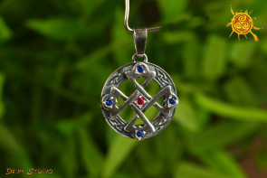 Krzyż serca wisior srebro - miłość