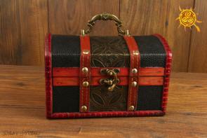 Kuferek drewniany wzór 3B - na karty, wahadła, amulety