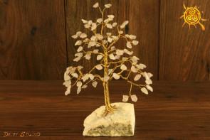 Drzewko szczęścia Kwarc Różowy 100 kamieni naturalnych - miłość, optymizm, przyjaźń