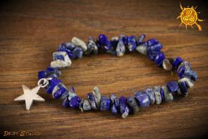 Lapis Lazuli bransoletka ochronna przywieszka Gwiazda - siła, ochrona, szczęście