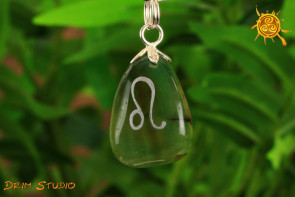 Agat wisiorek znak zodiaku LEW - talizman, amulet dla LWA 23.07 - 22.08