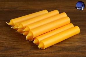 Żółta świeca KOMPLET 10 świec 10x1,8cm - optymizm, kreatywność, dobre finanse, zdany egzamin