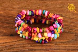 Masa perłowa kolor bransoletka szeroka Perła - radość z tego co posiadamy, uczciwość, spokój ducha