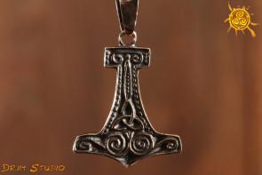 Młot Thora WISIOREK srebro - siła, powodzenie, cel, sukces, ochrona