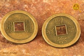 Moneta Chińska śr. 2,5 cm - szczęście, powodzenie, dobra praca