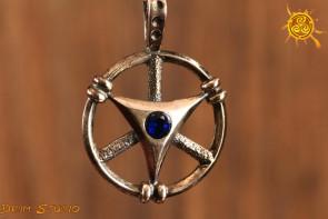 Niebiański Krąg WISIOR srebro - łączność z przewodnikami duchowymi, wzmocnienie siły medytacji