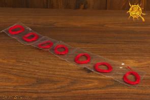Czerwona Nitka do zawiązania na nadgarstku ZESTAW 7 nitek - silny amulet ochronny przed złorzeczeniem