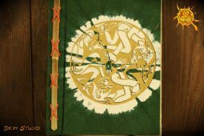 Notes Notatnik Zeszyt okładka Zielona papier czerpany  - do zapisywania magicznych zaklęć, receptur, rytuałów, afirmacji