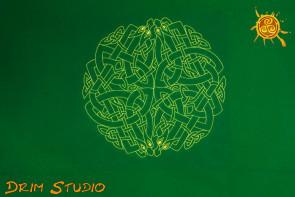 Obrus Celtycki Labirynt - układanie kart, magiczne rytuały