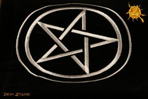 Obrus z Pentagramem - obrus do rozkładów kart lub do rytuałów