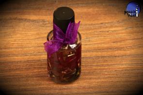 Fioletowy olejek Magoi Agni do namaszczania świec, talizmanów, kamieni - ochrona, uroki, przekleństwo