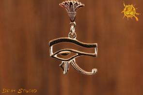 Oko Horusa wisior SREBRO - chroni przed zawiścią, zazdrością, złorzeczeniem