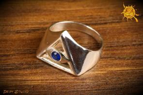 Pierścionek Oko Proroka rozmiar 14 srebro - amulet przeciw złemu spojrzeniu
