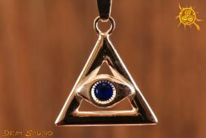 Oko Proroka wisior srebro - amulet przeciw złemu spojrzeniu