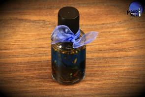 Niebieski olejek Magoi Agni do namaszczania świec, talizmanów, kamieni - nałogi, ukojenie, anioły