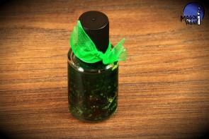 Zielony olejek Magoi Agni do namaszczania świec, talizmanów, kamieni - pieniądze, zdrowie