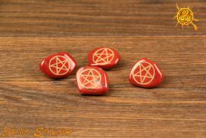 Pentagram na Jaspisie Czerwonym - ochrona, realistyczne myślenie, pewność siebie, zdrowie