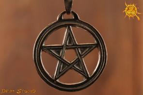 Pentagram wisior 3 cm srebro - zdrowie, ochrona przed złorzeczeniem czy zazdrością