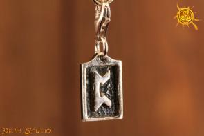 Runa PERTHRO przywieszka charms srebro - realizacja marzeń, stabilność