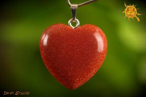 Piasek Pustyni SERCE WISIOREK 3x3 cm - miłość, pojednanie, czakra serca
